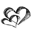 abstract heart drawn in ink by hand vector image vector image