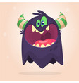 angry cartoon black monster screaming vector image vector image