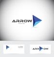 Arrow concept logo vector image vector image