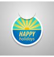 Attach happy holidays sticker vector image