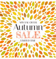autumn sale background template with leaves vector image vector image