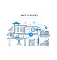back to school distance education e-learning vector image vector image