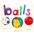 Balls with happy faces vector image vector image