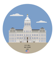 Baltimore City Hall vector image