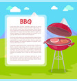 bbq poster with text nature vector image vector image