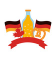 beer bottle with flags germany and ribbon vector image vector image