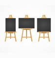 black board easel blank empty template set vector image vector image