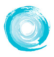 blue circle from brushstrokes element vector image