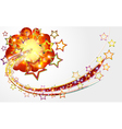 Bright abstract background with explosion stars vector image