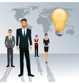business people teamwork world idea creative vector image vector image