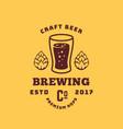 craft beer premium hops abstract retro vector image vector image