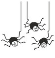 crazy spider icon vector image vector image