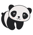 cute little panda on white background vector image vector image