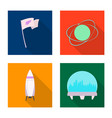 design of mars and space symbol set of vector image