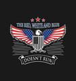 eagle american flag design template vector image vector image