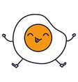 egg fried kawaii character vector image vector image