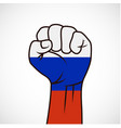 fist with the flag vector image vector image
