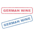 german wine textile stamps vector image vector image