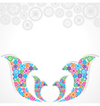 Group of gears make a floral design vector image vector image