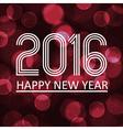 happy new year 2016 on dark bokeh circle vector image vector image