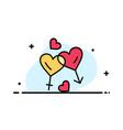 heart man women love valentine business flat line vector image