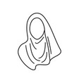 hijab icon graphic design isolated vector image vector image