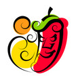 hot pepper great design for any purposes healthy vector image vector image