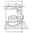 hungry man on diet drawing vector image