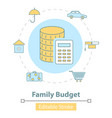icon family budget management vector image vector image