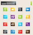 internet server and network bookmark icons vector image vector image