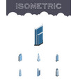 isometric skyscraper set of cityscape residential vector image vector image