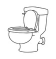 line drawing doodle of a bathroom toilet