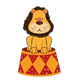 lion circus stand cartoon design vector image vector image