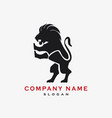 lion logotype vector image