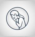 major depressive disorder icon vector image