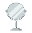 mirror for make up of object on vector image vector image