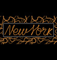 new york one line typography slogan for t-shirt vector image vector image