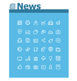 News icon set vector image vector image