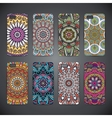 Phone case colorful floral pattern vector image