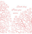 pink greeting card template vector image