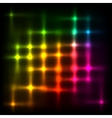Rainbow disco lights abstract background vector image