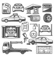 repair and service car maintenance icons vector image vector image