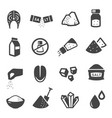 salt manufacturing and consumption glyph icons set vector image vector image
