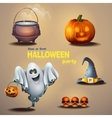 set different items for holiday halloween vector image