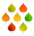 set leaves vector image vector image