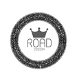Set of road blank retro vintage badges and labels vector image vector image