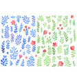 set watercolor florals vector image vector image