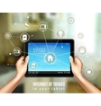 Smart Home Tablet vector image vector image