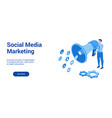 social marketing 3d template 2 vector image vector image