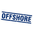 square grunge blue offshore stamp vector image vector image